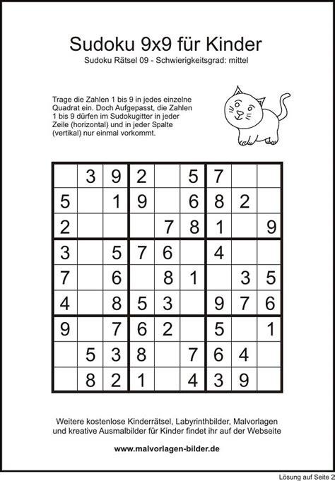 Diese gratis rätsel mit buchstaben ist genau das richtige für rätselfreunde. Sudoku 9x9 mittel zum kostemlosen Ausdrucken