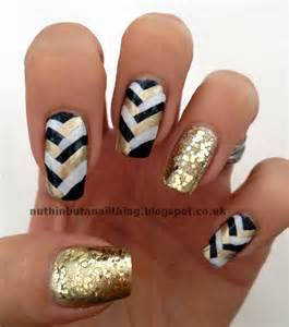 Black white and gold nail art ideas