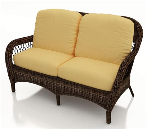 wicker settee replacement cushions forever patio leona wicker loveseat replacement cushion