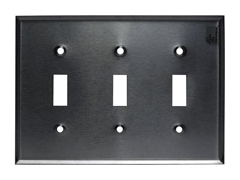 brushed stainless steel toggle switch outlet cover wall