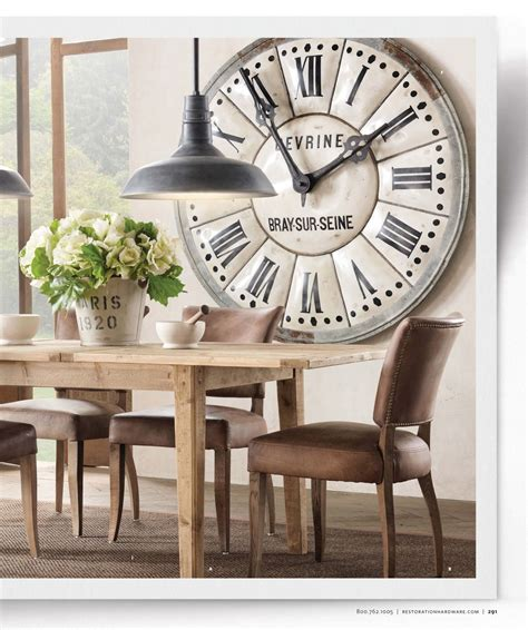 Large Clock In Dining Room Living Room Spiration