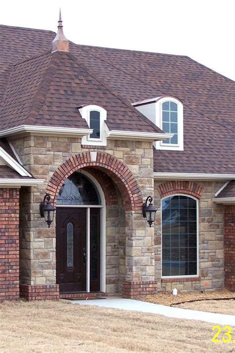 home entrance  brick arch topped