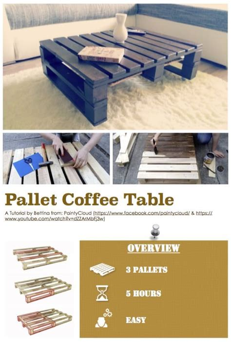 diy  tutorial pallet coffee table  pallets