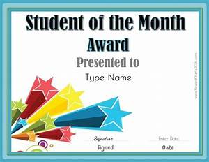 free student of the month certificate With free printable student of the month certificate templates