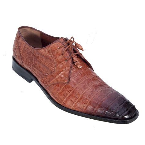 Los Altos Caiman Belly Derby Shoes Faded Cognac