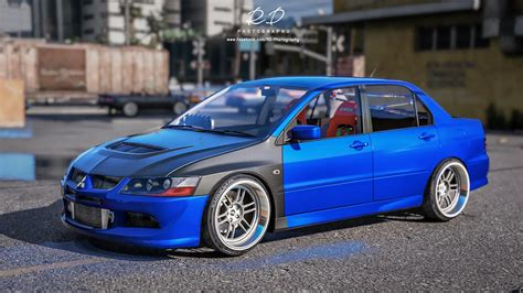 mitsubishi evo mitsubishi lancer evo 8 add on gta5 mods com