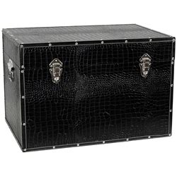 faux leather trunk faux leather black storage trunk 3722