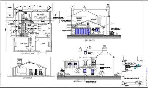 Home Design Examples : House Extension Plans Examples House Blueprints Examples