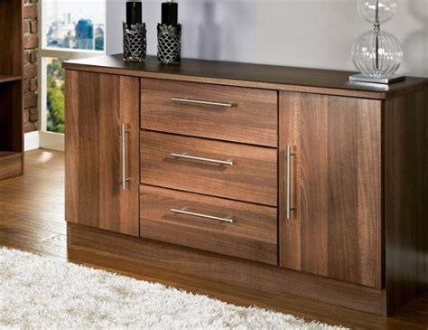 What Are Sideboards by Alora Walnut 2 Door 3 Drawer Sideboards