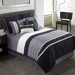 covington 8 piece comforter set in grey black bed bath With bed bath and beyond bedspread sets