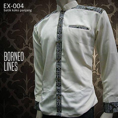 jual batik lengan panjang seragam batik pria ex 001a