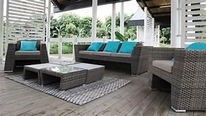 Salon De Jardin Rotin Tressé : salon jardin rotin exterieur mc immo ~ Premium-room.com Idées de Décoration