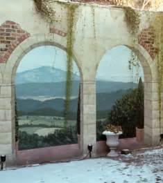 photo un trompe l oeil mural ext 233 rieur sur le mur d une cour