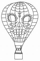 Balloon Coloring Air Printable Dia Los sketch template