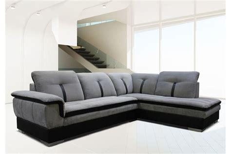 chambre noir et gris canapé d 39 angle marion microfibre design
