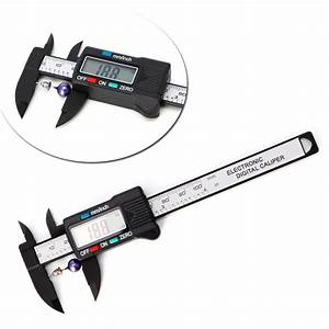 New 100mm Lcd Digital Electronic Carbon Fiber Vernier