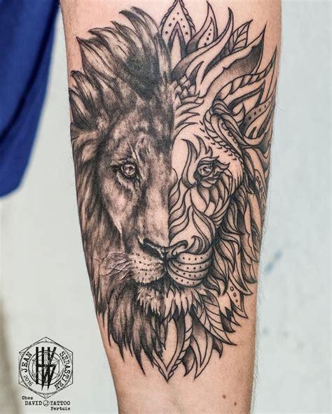 tatouage mandala homme animaux