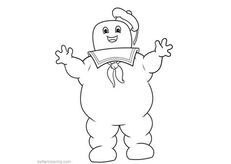 stay puft marshmallow man  ghostbusters coloring pages