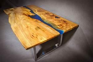 Table En Bois Et Resine : table rivi re en bois massif meubles et d coration tunisie ~ Dode.kayakingforconservation.com Idées de Décoration