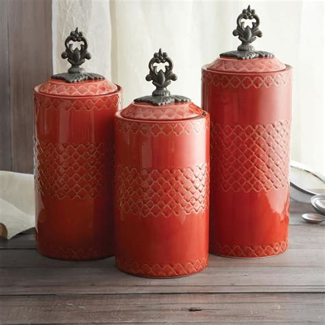 kitchen canisters and jars atelier quatra canister set rustic