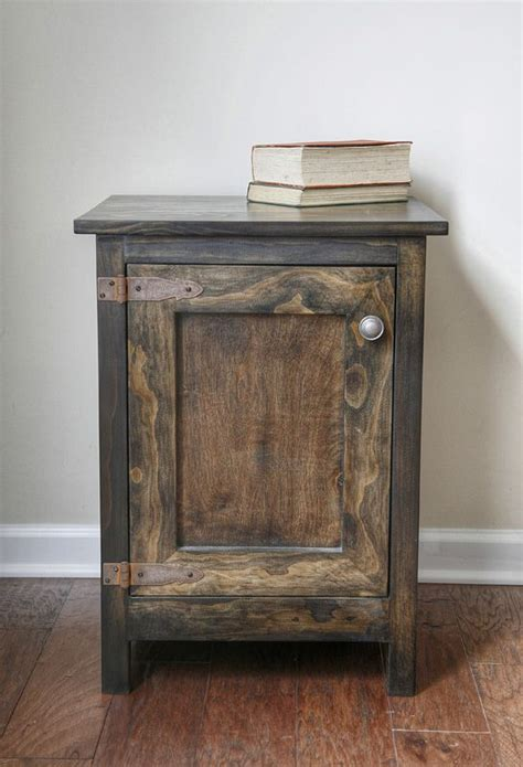 side table diy nightstand rustic nightstand wooden diy