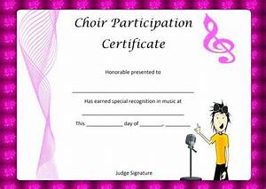 best 25 certificate of participation template ideas on With choir certificate template