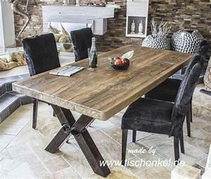 Esstisch Aus Altholz : esstisch aus altholz mit tischgestell aus rohlstahl der tischonkel ~ Frokenaadalensverden.com Haus und Dekorationen