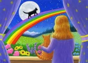 rainbow bridge for cats cats rainbow bridge moon original