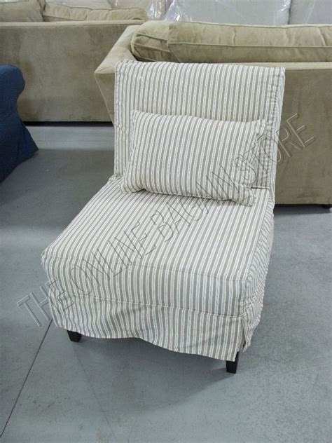 pottery barn chair slipcovers pottery barn armless slipcovered sofa accent chair