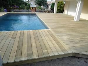 tour de piscine en bois pose terrasse bois landes With tour de piscine en bois