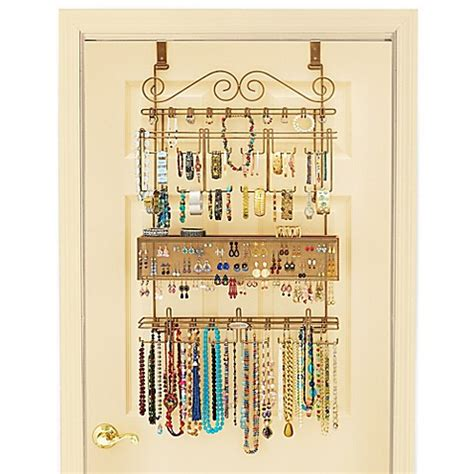 the door jewelry organizer the door jewelry organizer in bronze bed bath beyond