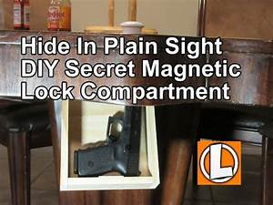 DIY Secret Storage Compartment For Guns And Valuables In