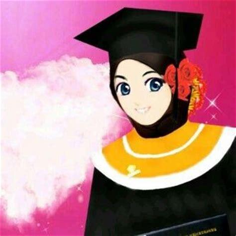 anime muslim wisuda graduation muslimah muslimah