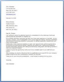 Vet Tech Cover Letter