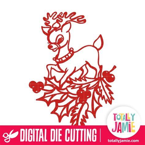 Laser cut grandpa christmas ornament santa claus christmas tree decoration dxf file. Christmas Holly Decoration Cute Reindeer - TotallyJamie ...