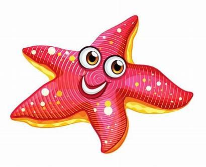 Clip Starfish Clipart Sea Ocean Transparent Fish