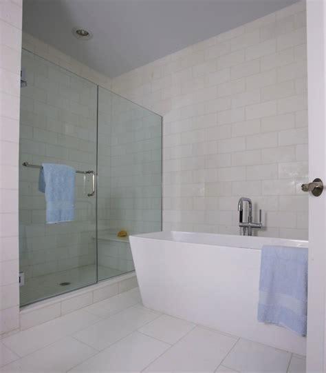 Modern Freestanding Tub  Transitional  Bathroom Lynn