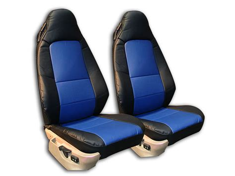 Bmw Z3 1996-2002 Black/blue Iggee S.leather Custom Fit