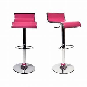 Tabouret De Bar Rose : tabourets de bar rose design waves lot de 2 achat vente tabouret de bar pas cher couleur ~ Teatrodelosmanantiales.com Idées de Décoration