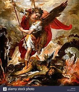 Saint Michael the Archangel Vanquishing Lucifer 1656 ...