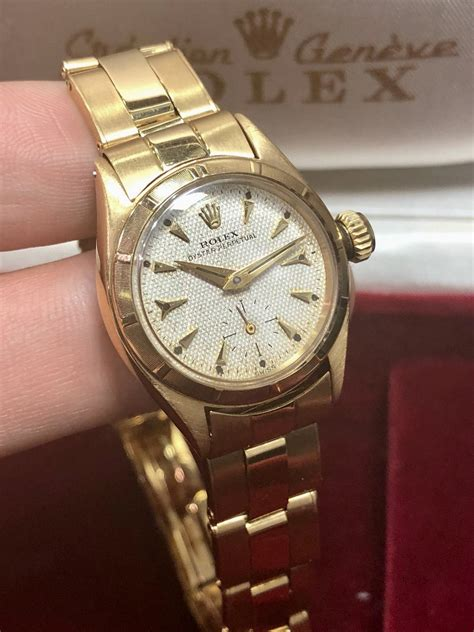 A Ladies 1957 Vintage Rolex 18ct Yellow Gold - Carr Watches