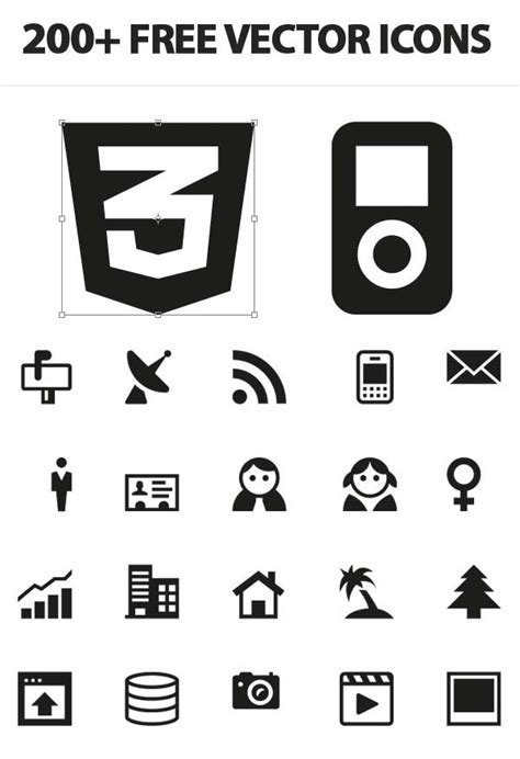 200+ Free Vector Icons For UI, Wireframes and Web Design ...
