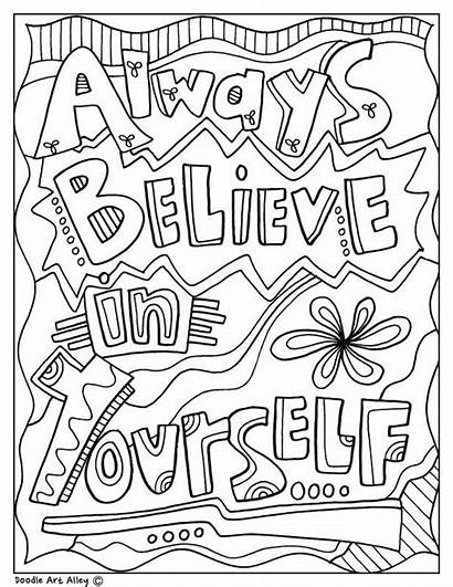 Coloring Pages Inspirational Doodles Quotes Quote Printable
