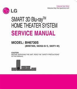 Lg Bh6730s Home Theater System Original Service Manual And