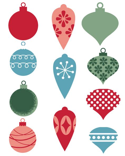 free printable christmas ornaments festival collections