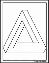 Coloring Triangle Penrose Shape Triangles Squares Circles Colorwithfuzzy sketch template