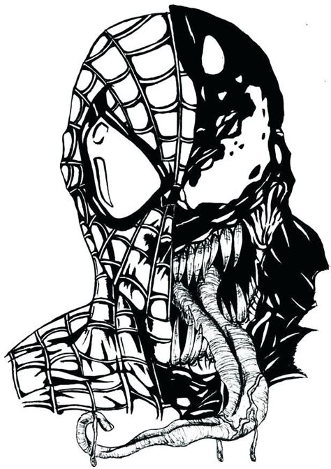 spiderman  venom coloring pages spiderman drawing spiderman coloring drawings