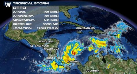 tropical storm otto forms   western caribbean sea