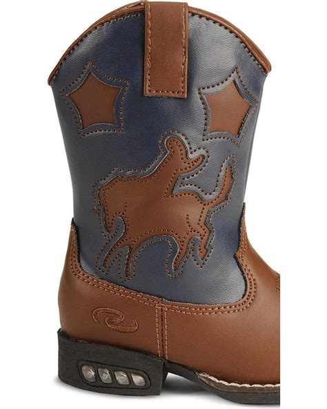Toddler Light Up Boots by Roper Toddler Boys Light Up Bronco Cowboy Boot 09 017