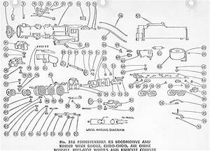 American Flyer Locomotive 316 Parts List  U0026 Diagram